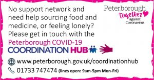 Peterborough COVID19 Co-ordination Hub Message