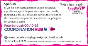 Spanish Peterborough Coordination Hub Message