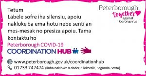 Tetum Peterborough Coordination Hub Message