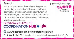 French Peterborough Coordination Hub Message