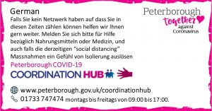 German COVID19 Co-ordination Hub Message