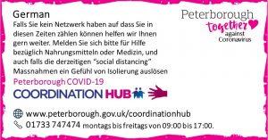 German COVID19 Co-ordination Hub Message