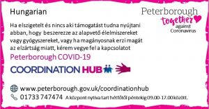Hungarian COVID19 Co-ordination Hub Message