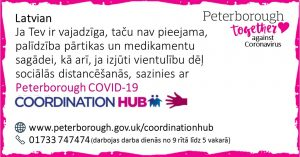Latvian COVID19 Co-ordination Hub Message