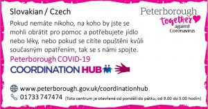 Slovakian COVID19 Co-ordination Hub Message