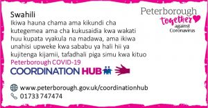 Swahili COVID19 Co-ordination Hub Message