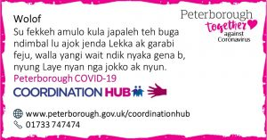 Wolof COVID19 Co-ordination Hub Message